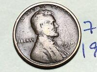 1919 S LINCOLN CENT WHEAT BACK PENNY 7653K