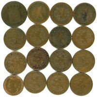 NETHERLANDS LOT OF 16 DIFFERENT 1 CENT COINS 1827   1948