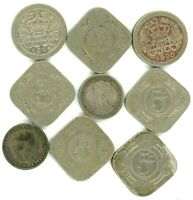 NETHERLANDS LOT OF 9 DIFFERENT 5 & 10 CENTS COINS 1897   1938 WITH 2 SILVER