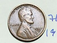 1927 D LINCOLN CENT WHEAT CENT 7627K