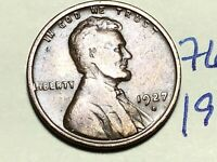 1927 D LINCOLN CENT WHEAT CENT 7666K