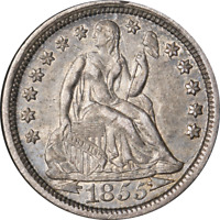 1855-P SEATED LIBERTY DIME GREAT DEALS FROM THE EXECUTIVE COIN COMPANY