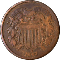 1867 TWO 2 CENT PIECE - DOUBLED DIE OBVERSE  GREAT DEALS FROM THE EXECUTIVE CO