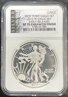 2013 W AMERICAN SILVER EAGLE FROM WEAT POINT SET NGC SP70 ENHANCED FINISH ER