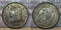 1836 CAPPED BUST HALF DIME 5C GREAT DETAILS OLD CLEANING