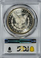 1892-CC MORGAN PCGS MINT STATE 63 SILVER DOLLAR WITH SEMI-PROOFLIKE REVERSE