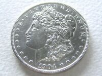 1904-S MORGAN DOLLAR, EXTREME DETAIL FOR THIS COVETED DATE - 21-D