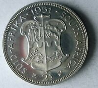 1951 SOUTH AFRICA 2 SHILLINGS   PROOF   VERY SCARCE SILVER C