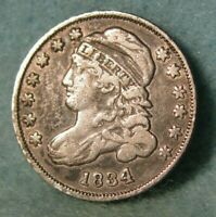 1834 CAPPED BUST SILVER DIME BETTER GRADE UNITED STATES TYPE