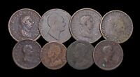 GREAT BRITAIN. LOT OF 8 ASSORTED PENNIES AND HALFPENNIES 172