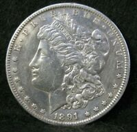 1891 CC CARSON CITY MINT MORGAN SILVER $1 DOLLAR HIGH GRADE