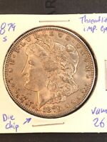 1879 S MORGAN SILVER DOLLAR VAM 26 DIE CHIP DATE