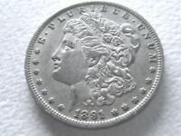 1891-O MORGAN DOLLAR, REALLY GOOD LOOKING SPECIMEN - ORIG 21-N