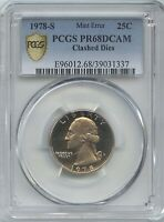 1978 S  25 CLASHED DIES OBV/REV PGS PROOF 68 DCAM