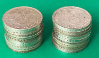 GERMAN LOT OF 20 COINS  SILVER  WORLD WAR TWO
