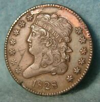 1828 CLASSIC HEAD HALF CENT HIGH GRADE DETAILS UNITED STATES