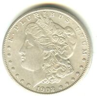 1902 S MORGAN DOLLAR MS IN GRADE WHITE COIN NICE SAN FRANCIS
