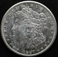 KAPPYSCOINS G1846 1897S SELECT BU MORGAN SILVER DOLLAR