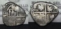 SPANISH SILVER COB   COLONIAL COIN