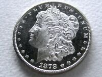 1878-CC MORGAN DOLLAR, PREMIUM QUALITY STRONG PROOF-LIKE MIRRORS ORIG 3-L