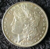 COIN MORGAN SILVER DOLLAR COIN 1885-O HIGH GRADE