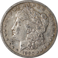 1880-P MORGAN SILVER DOLLAR - VAM - RE-CUT 'O' GREAT DEALS FROM THE EXECUTIVE CO