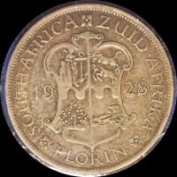 SOUTH AFRICA 1928 FLORIN OLD WORLD SILVER COIN