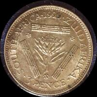 SOUTH AFRICA 1929 3 PENCE OLD WORLD SILVER COIN HIGH GRADE
