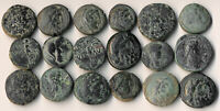^^AUTHENTIC^^ 18 ANCIENT GREEK COINS  SEE PICTURES  YOU IDEN
