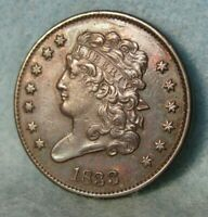 1833 CLASSIC HEAD HALF CENT SHARP HIGH GRADE UNITED STATES COIN