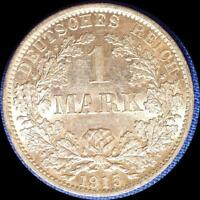 GERMANY 1915 A 1 MARK OLD WORLD SILVER COIN HIGH GRADE