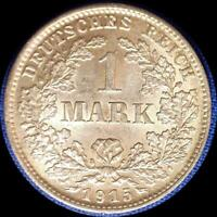 GERMANY 1915 D 1 MARK OLD WORLD SILVER COIN HIGH GRADE