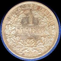 GERMANY 1914 A 1 MARK OLD WORLD SILVER COIN HIGH GRADE