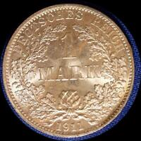 GERMANY 1911 A 1 MARK OLD WORLD SILVER COIN HIGH GRADE
