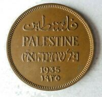 1935 PALESTINE MIL   AU   EXCELLENT HARD TO FIND COIN   LOT