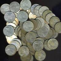 50 X AUSTRALIAN 1966 ROUND FIFTY CENT COINS   80  SILVER