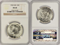 1965 SMS NGC MS68 UNCIRCULATED SILVER UNCIRCULATED KENNEDY H