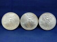 1993 LOT OF 3 COINS 1 OZ ONZA SILVER LIBERTAD MEXICO NR 3 OU
