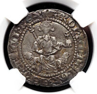 ITALY NAPLES. CHARLES D'ANJOU. 1285 1309. SILVER GIGLIATO. N