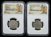 NGC CERTIFIED LOT OF 2   FRANCE PAPAL STATES. CLEMENT VIII 1