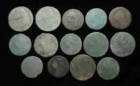FRANCE. LOUIS XVI SOL AND 2 SOLS LOT OF 14 FRENCH REVOLUTION