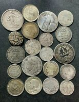 VINTAGE WORLD SILVER COIN LOT   1700 1944   20 EXCELLENT SIL