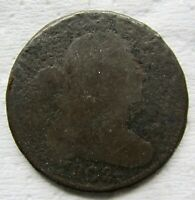 1802 1C BN DRAPED BUST LARGE CENT BOLD DATE SOME DETAIL MINOR CORROSION