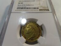 W8 FRANCE NAPOLEON I 1812 A GOLD 20 FRANCS RIVE D'OR COLLECTION NGC XF 45