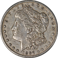 1897-S MORGAN SILVER DOLLAR LY CIRCULATED - GREAT SET BUILDER - STOCK
