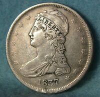1837 REEDED EDGE CAPPED BUST SILVER HALF DOLLAR HIGH GRADE D