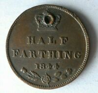 1844 GREAT BRITAIN 1/2 FARTHING   EXCELLENT COIN   LOT A29