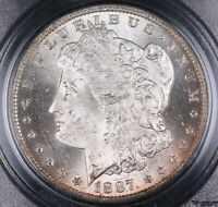 1887 O MORGAN SILVER DOLLAR COIN PCGS MINT STATE 63