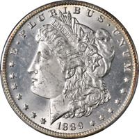 1889-O MORGAN SILVER DOLLAR PCGS MINT STATE 64 GREAT EYE APPEAL STRONG STRIKE