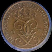 SWEDEN 1916 5 ORE OLD WORLD COIN